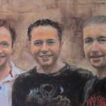 Family G - an oil portrait on board by Heidi Beyers