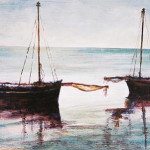 Mozambique Fishing Boats - an oil painting by Heidi Beyers