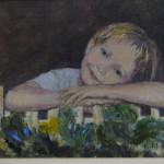 Megan - an acrylic oil portrait by Heidi Beyers