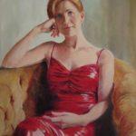 Bronwen in Red - A Portrait by Heidi Beyers