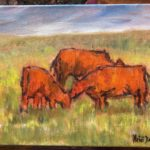 Cows in Oil on Canvass by Heidi Beyers